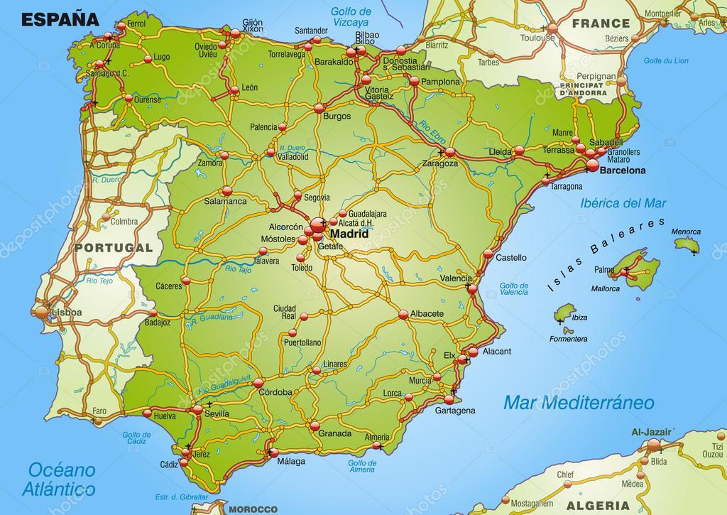 spanyolország térkép Spanyolország Térkép — Stock Vektor © artalis #40925913 spanyolország térkép