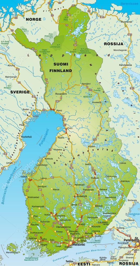 karta över finland karta över finland — Stock Vektor © artalis #40926095 karta över finland