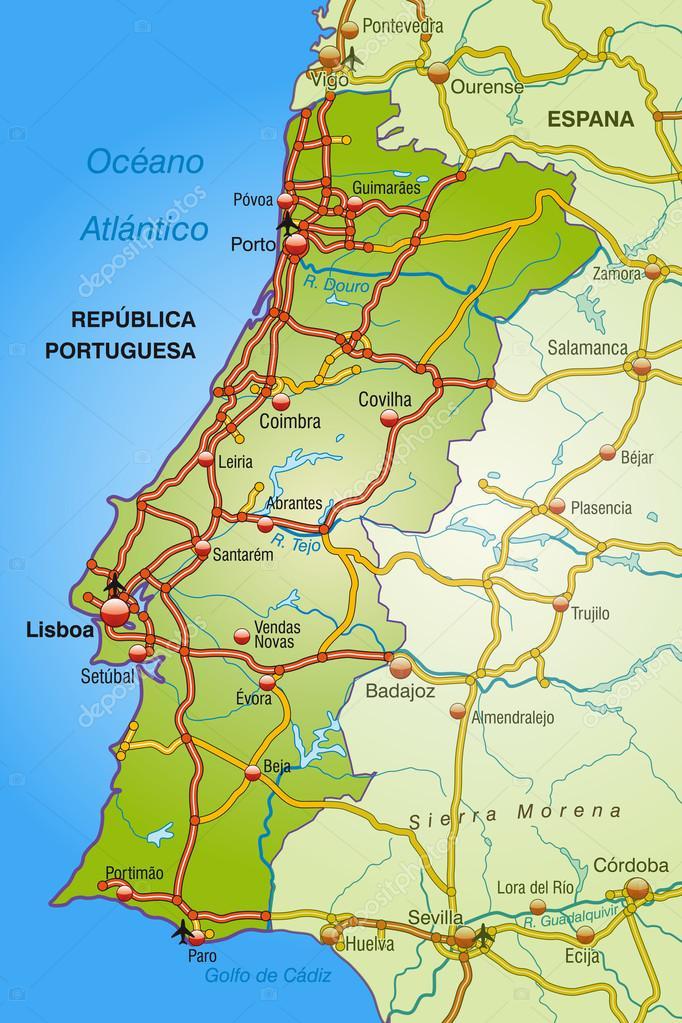 portugália térkép Portugália Térkép — Stock Vektor © artalis #40926175 portugália térkép