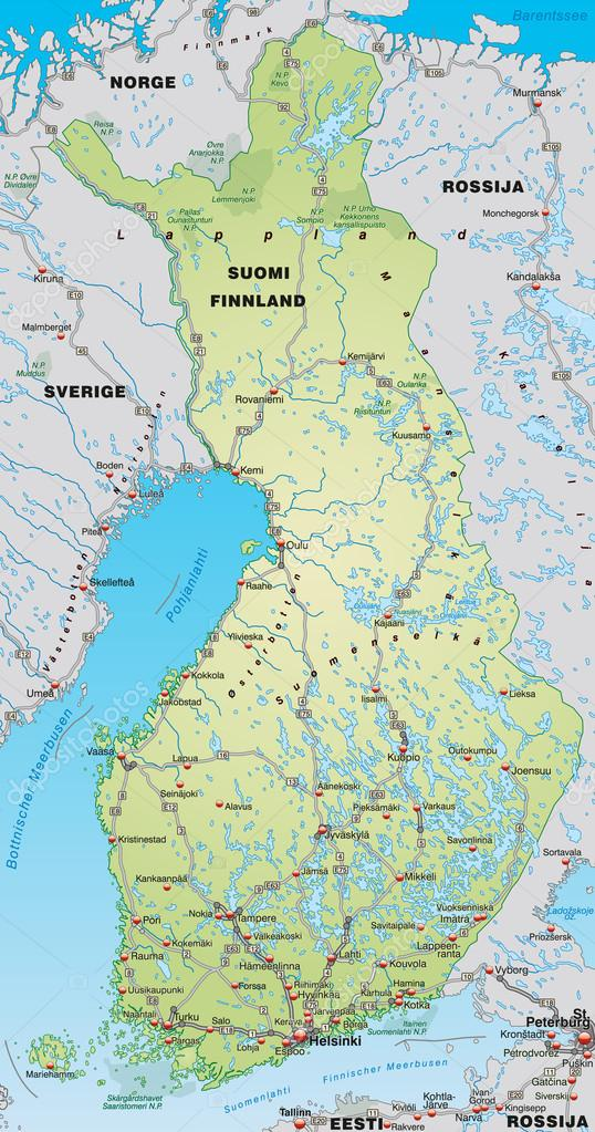karta över finland karta över finland — Stock Vektor © artalis #40927401 karta över finland