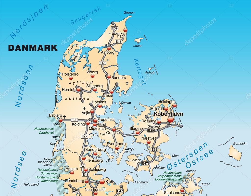 karta odense danmark karta över Danmark — Stock Vektor © artalis #40928035 karta odense danmark