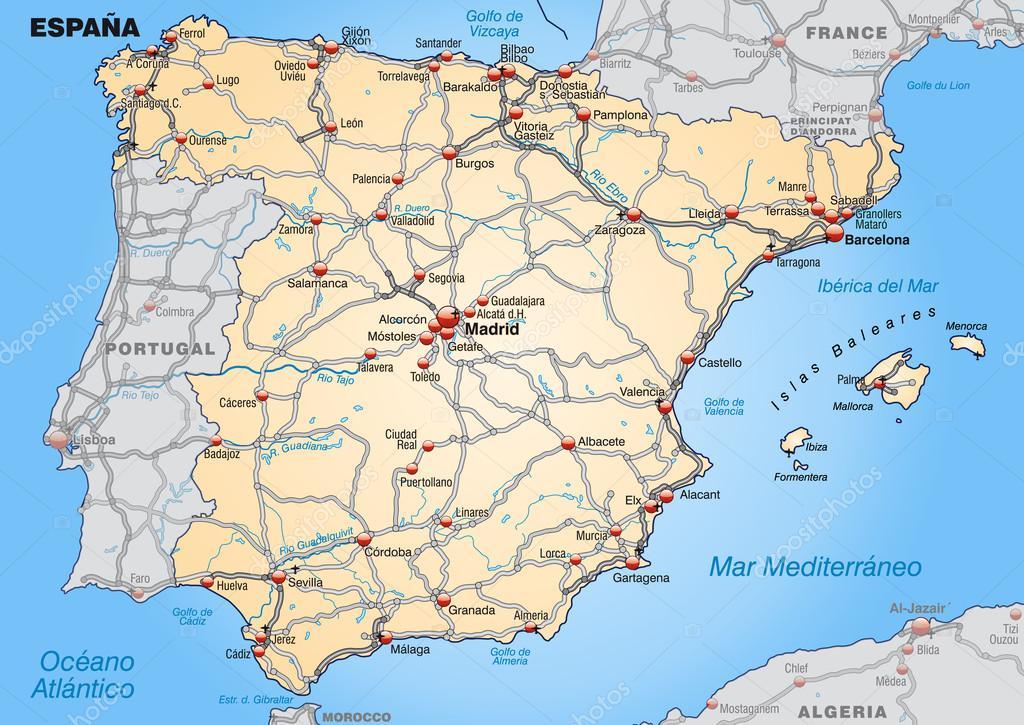 spanyolország térkép Spanyolország Térkép — Stock Vektor © artalis #40928091 spanyolország térkép