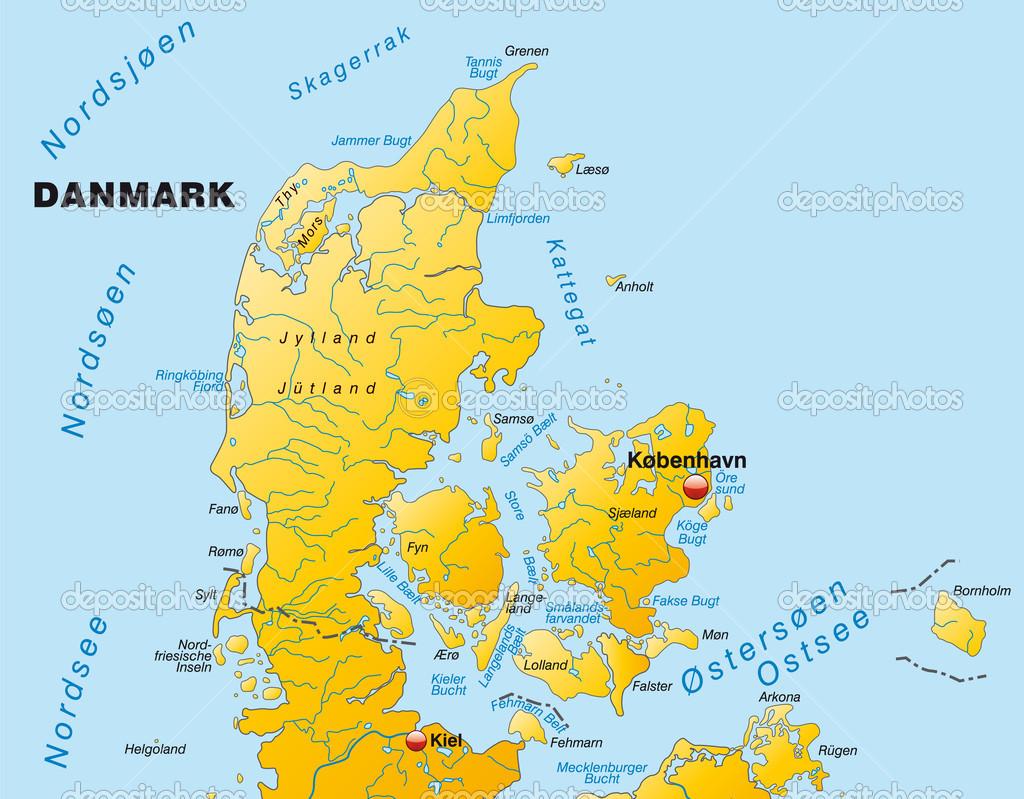 karta över danmark och tyskland karta över Danmark — Stock Vektor © artalis #40928221 karta över danmark och tyskland