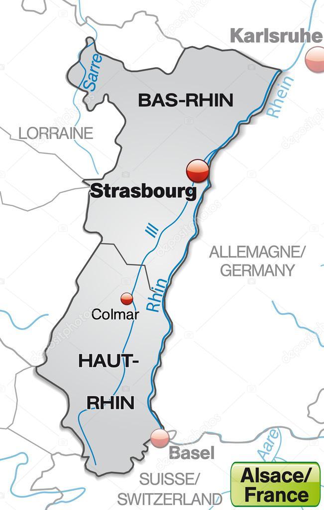 Elsass Auf Karte.Karte Von Elsass Stockvektor C Artalis 40928859