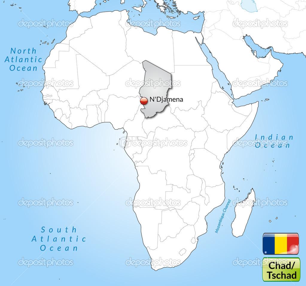 Map of Chad — Stock Vector © artalis #40930589
