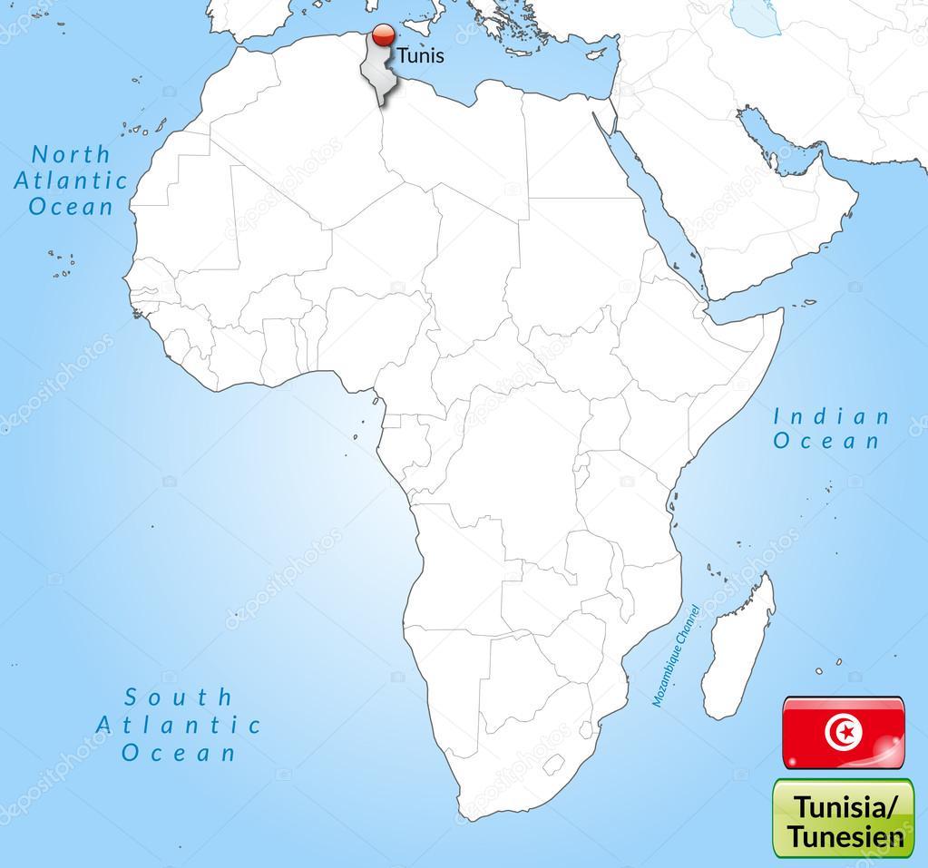 tunézia térkép Tunézia Térkép — Stock Vektor © artalis #40930597