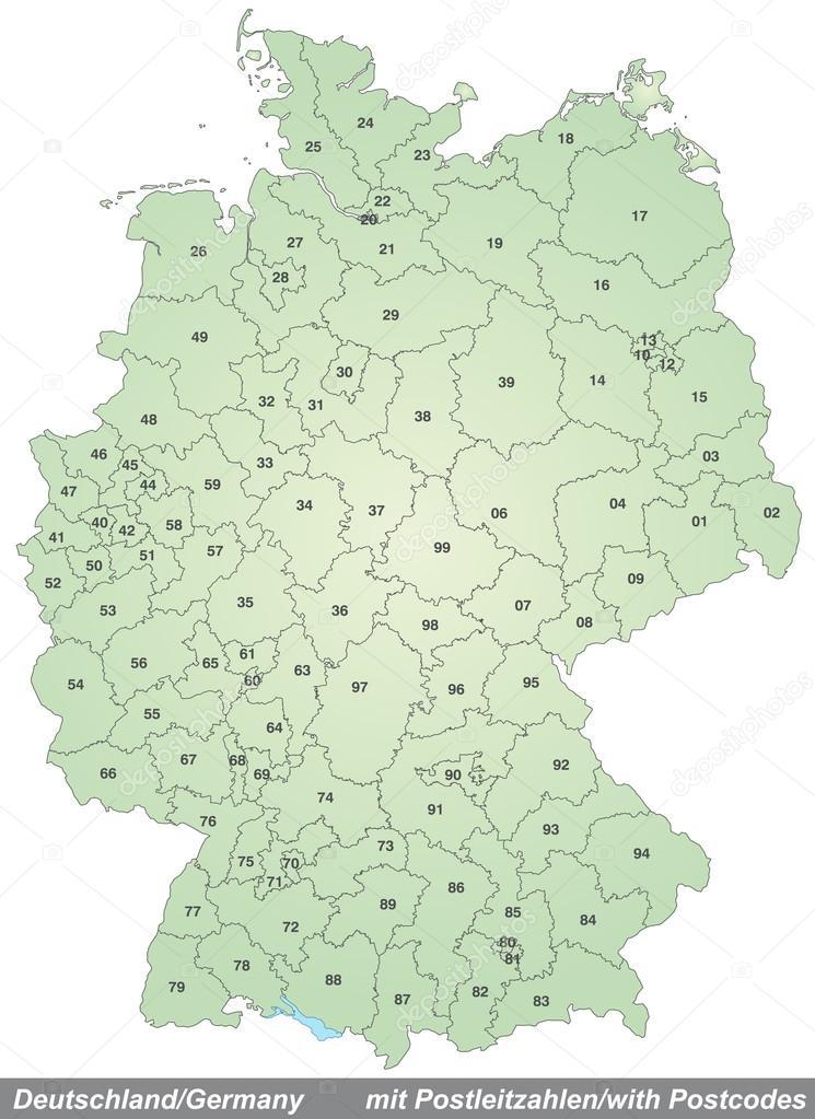 Carte Allemagne Code Postaux.Carte De L Allemagne Avec Codes Postaux Image Vectorielle