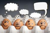 tänkte ballong ägg tecken