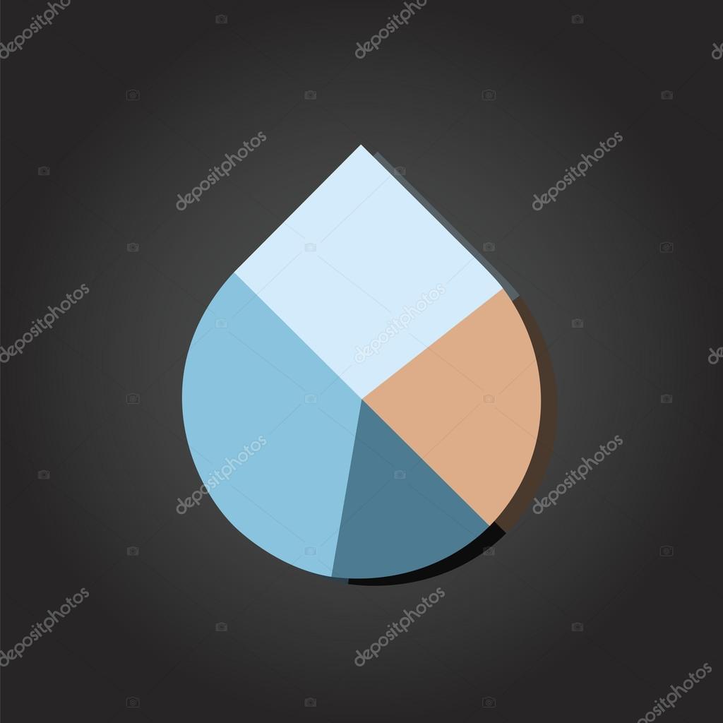Water drop pie chart stock vector thpstock 35230321 water drop pie chart stock vector ccuart Image collections