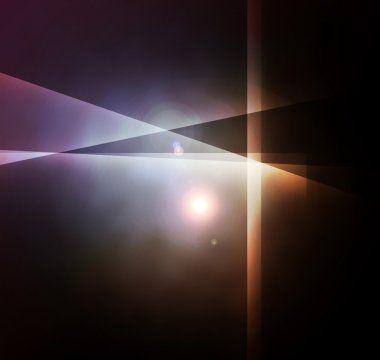 Abstract lens flare light