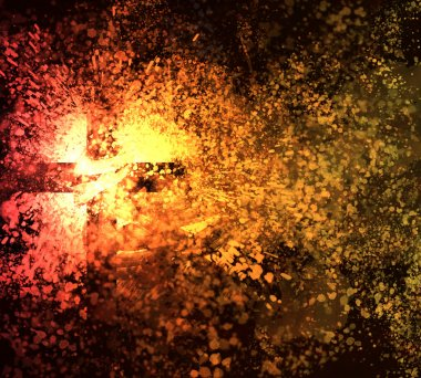 Abstract cross explosion