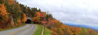 Panorama of Blue Ridge Parkway in Autumn