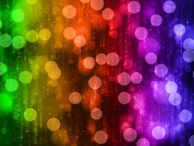 Colorful Bokeh Circles Background