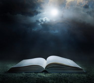 Bible at midnight