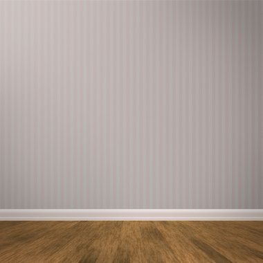 Empty wall with wooden floors