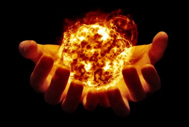 Holding the sun in your hands
