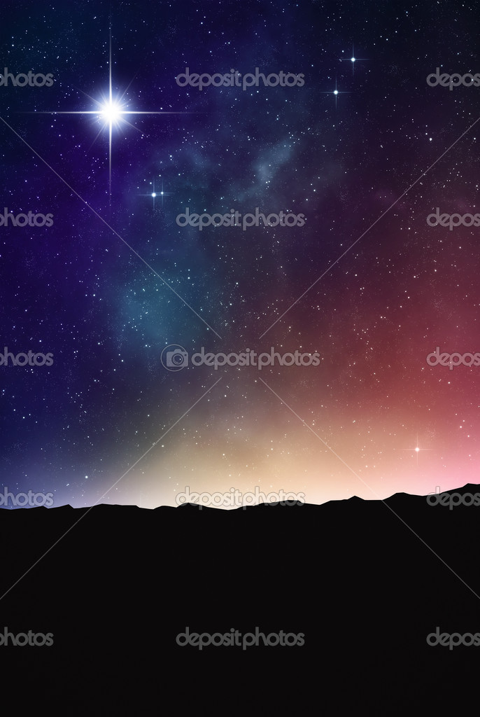 Beautiful space background.
