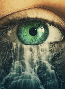 Eye and waterfall