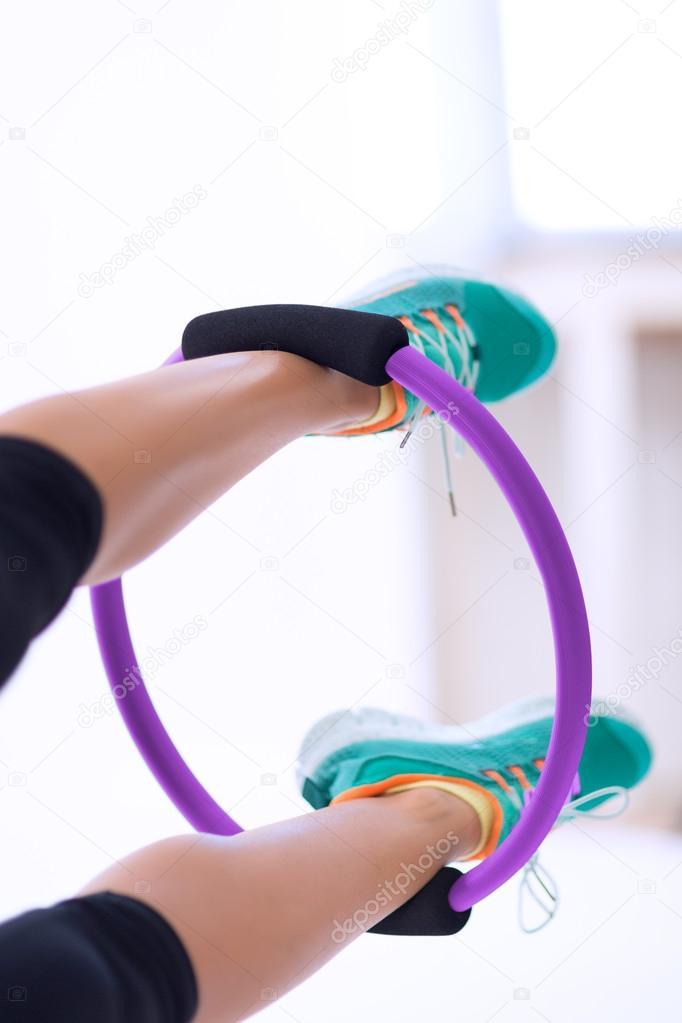 Pilates Yoga Ring Workout Stock Photo C Ciufudeana 33361583