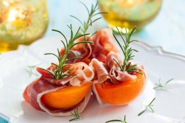 Prosciutto with apricots