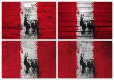 Peru flag collage