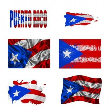 Puerto Rico flag collage