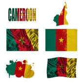 Cameroon flag collage