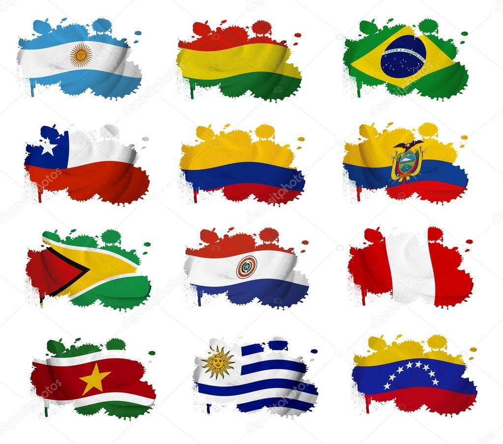 Les pays de l 39 am rique du sud drapeau taches photographie ruletkka 18904257 - Drapeau de l amerique ...