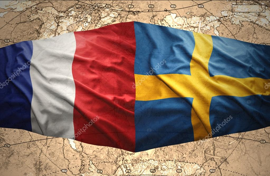 Karta Sverige Frankrike.Sverige Och Frankrike Stockfotografi C Ruletkka 40634063
