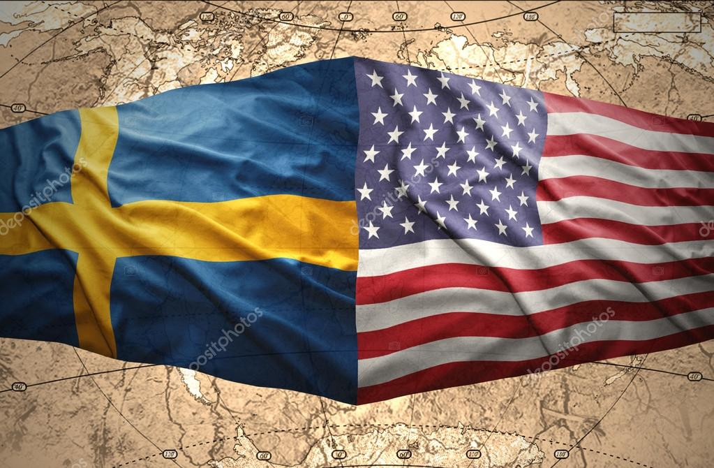 Sweden And United States Of America Stock Photo Ruletkka - Us map sweden