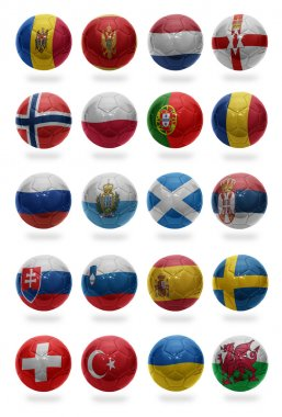 European Football . Collage from M  to W