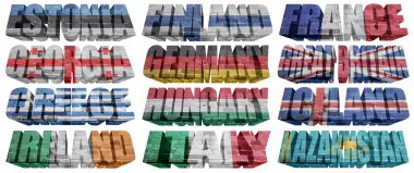 European countries (From E to K) flag words