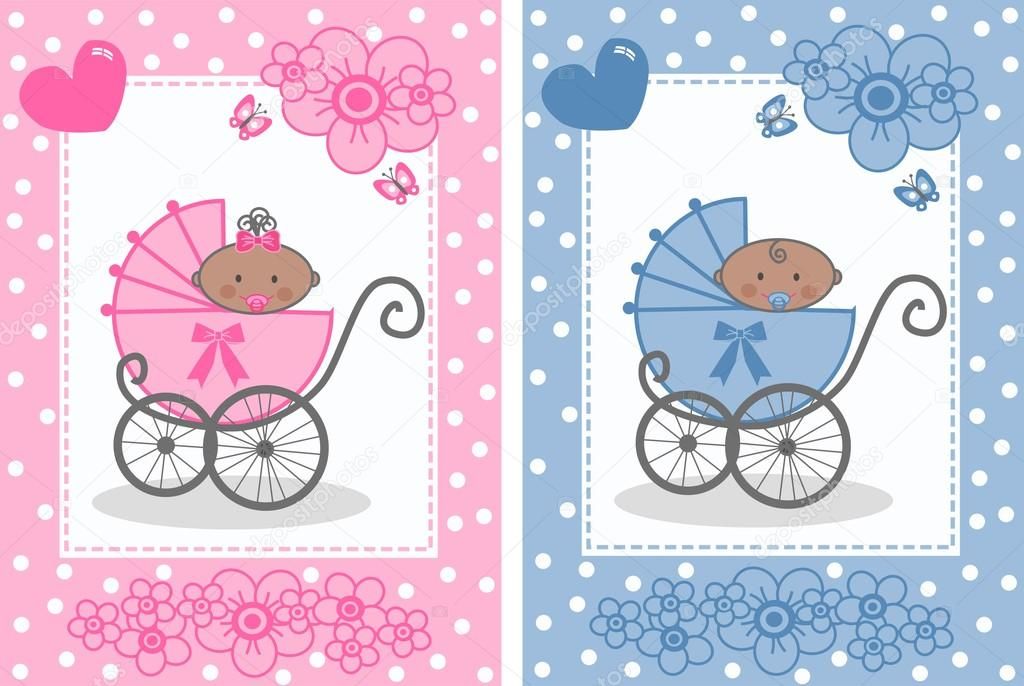 newborn baby announcement boy girl stock vector popocorn 17325919
