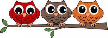 Three sweet owls