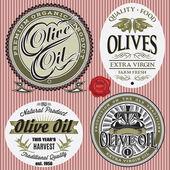 Fotografia set di etichette vettoriale per lolio doliva