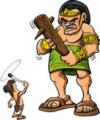 Photo Cartoon David and Goliath