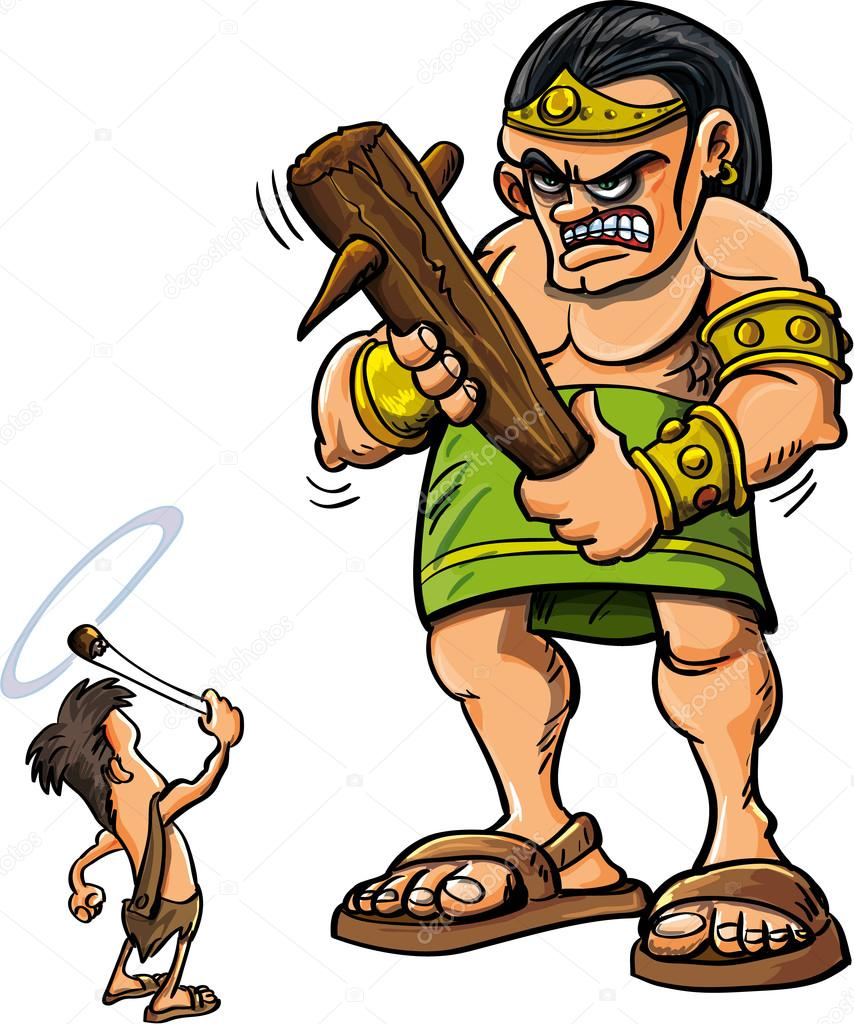 Image result for david vs goliath cartoon