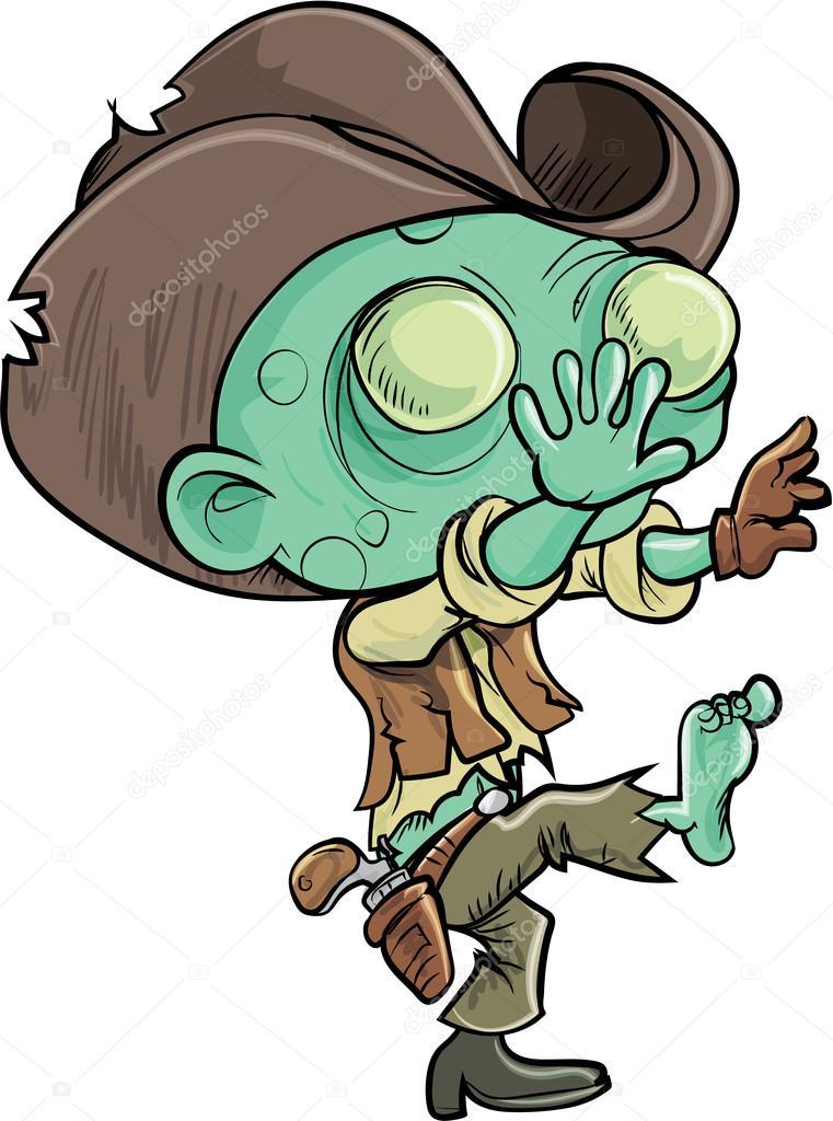 Cow boy zombie dessin anim mignon image vectorielle - Dessin de cowboy ...