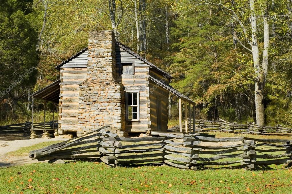 Log Cabin, Cades Cove, Great Smoky Mountains National Park U2014 Stock Photo