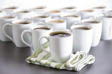 Coffee for everyone in the office, bistro coffee cups in order