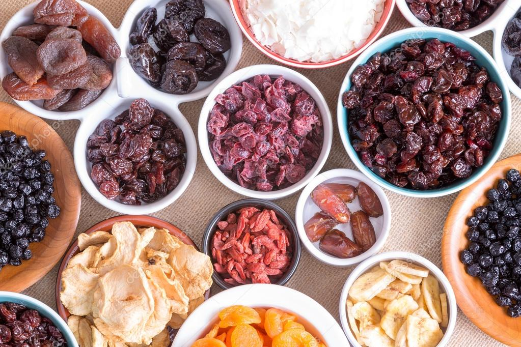 Background pattern and texture of dried fruit