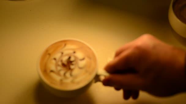 Coffe latte presentation