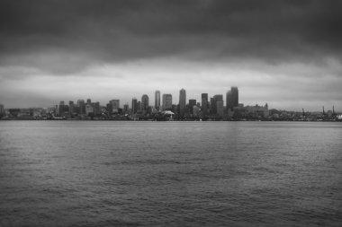 Seattle - Rainy Foggy winter day