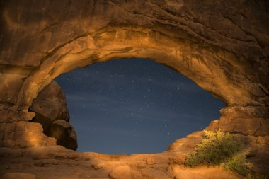 Windows Arches National Park at Night