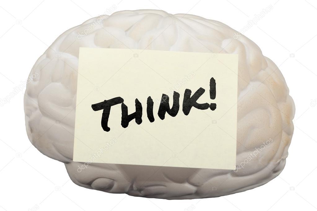 Denke! Mit Modell Gehirn, Ideen Zu Generieren U2014 Stockfoto
