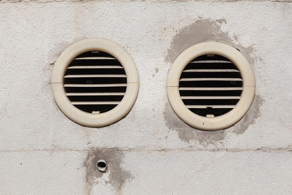 Air vents fixed on an outside wall — Stock Photo © doethion #34822341