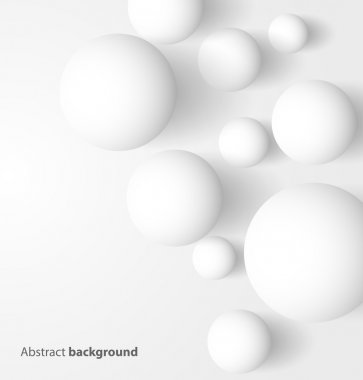 Abstract 3D white spheric background