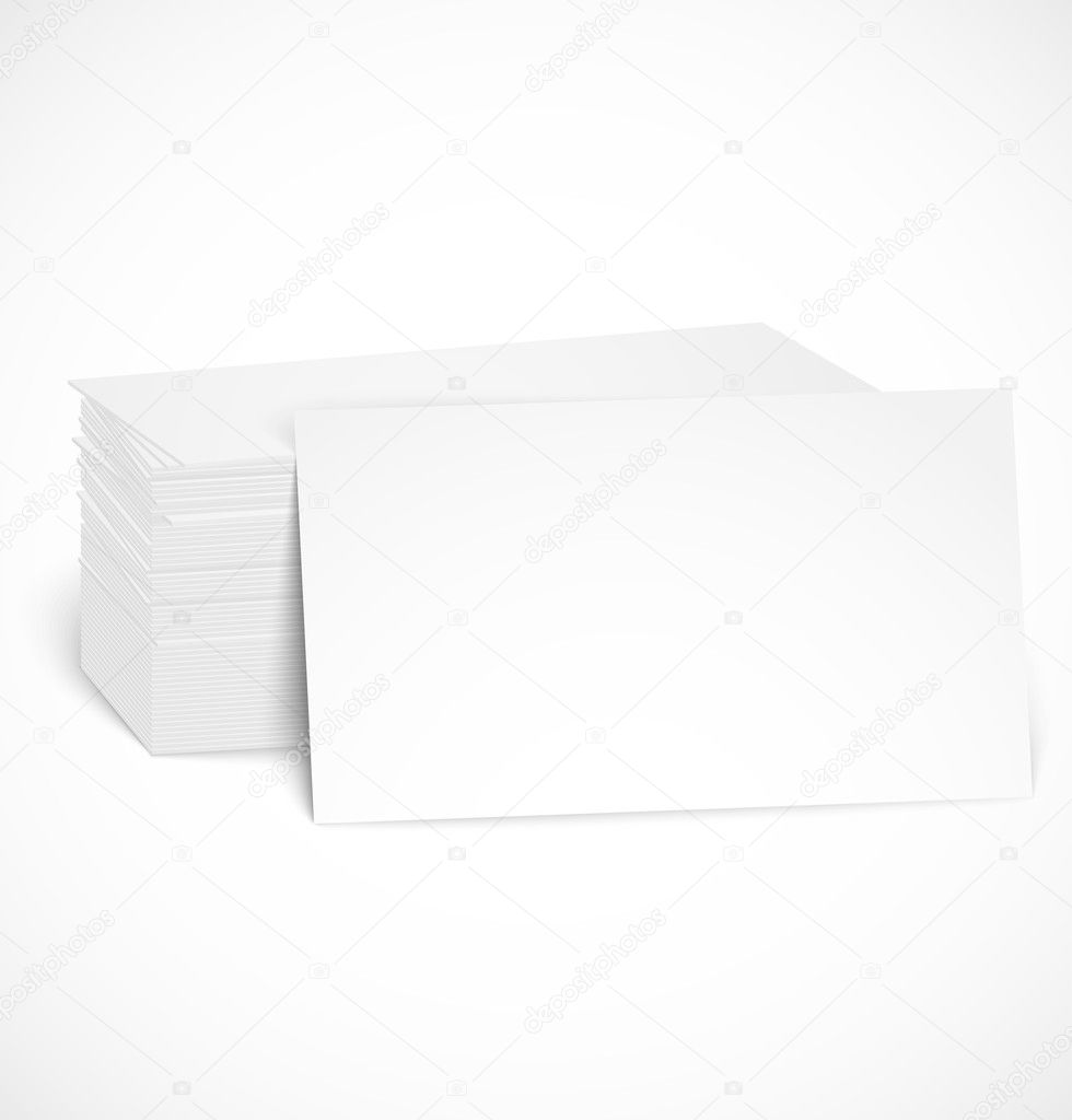 Pile of business cards with shadow template — Stock Vector © skymax ...