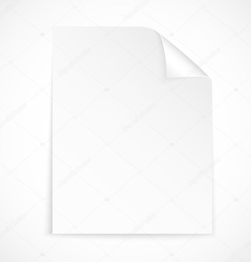 Blank letter paper icon