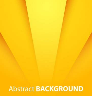 Abstract yellow paper background with shadow. Vector illustration stock vector